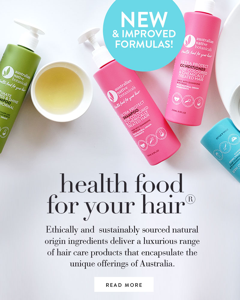 New hair bottle packaging. New & Improved Formulas! Health food for your hair®. Natural ingredients