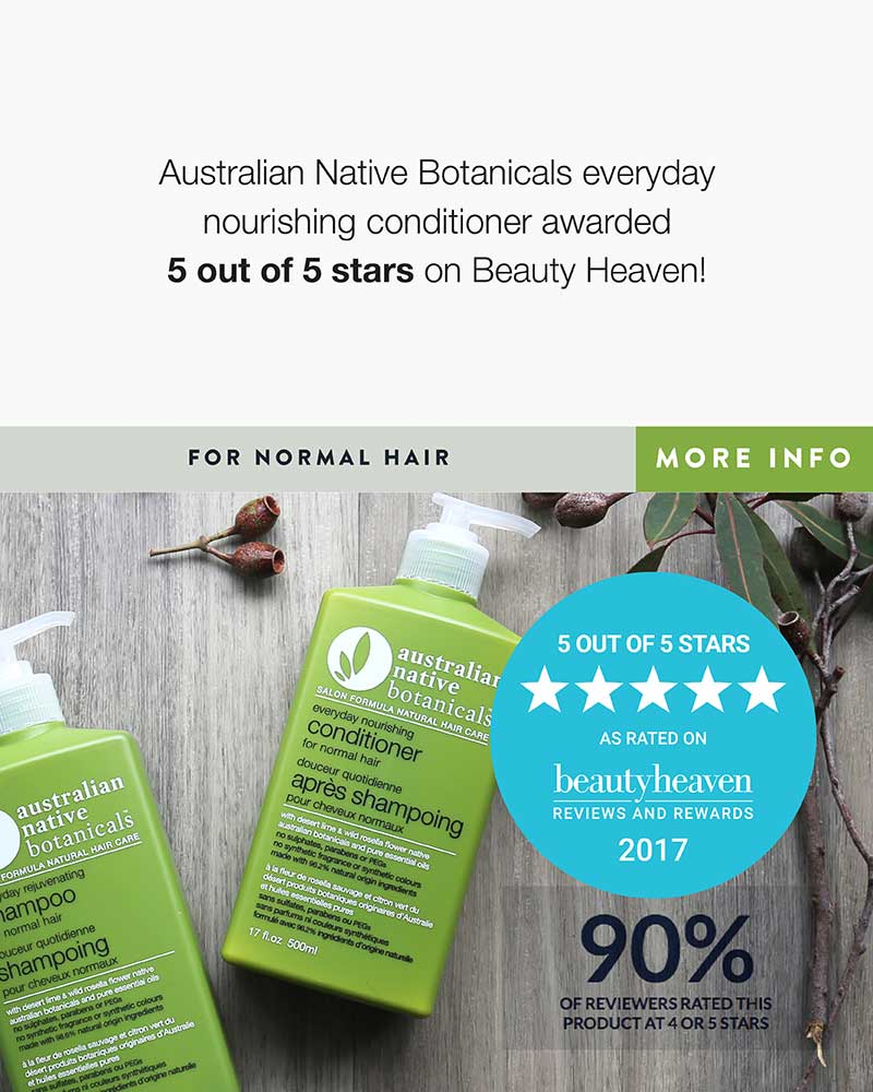 Everyday nourishing conditioner awarded 5 out of 5 stars on Beauty Heaven