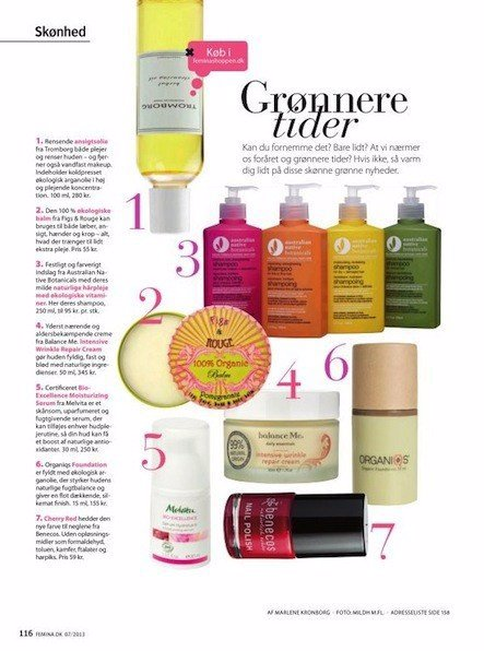 Australian Native Botanicals Press Media Femina Magazine 14 Feb
