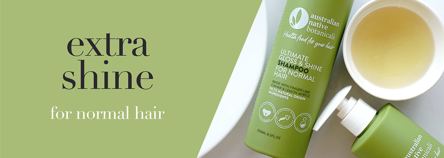Australian Native Botanicals Ultimate Gloss & Shine Shampoo for Normal Hair
